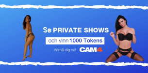 Se Private Shows und vinn 1000 Tokens (från 25e mars – 7e april)
