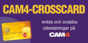 Skaffa CAM4's Crosscard nu för bekvämare utbetalningar och tjäna 250 bonus-tokens – gäller fram till slutet av augusti